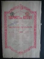 Action 1901 BRUXELLES - SOCIETE ANONYME DES TRAMWAYS DE ROSTOFF - Russie