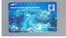 INDONESIA - TELKOM  -MARINE LIFE: CORAL REEF   - USED - RIF. 10380 - Indonesia