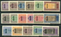 Soudan (1921) N 20 à 36 * (charniere) - Soudan (1894-1902)