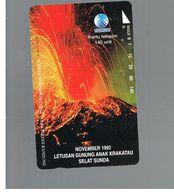 INDONESIA - TELKOM  - 1995 VOLCAN IN NOVEMBER 1992             - USED - RIF. 10382 - Indonesia