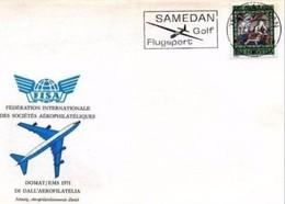 FISA - 24 4 1971 DOMAT/EMS(SVIZZERA) GIORNATA AEROFILATELIA Cancel Golf - Golf