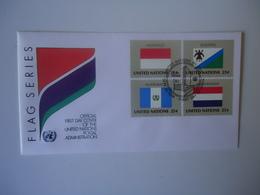 UNITED NATIONS   FDC FLAG NETHERLADS   INDONESIA - Emissions Communes New York/Genève/Vienne