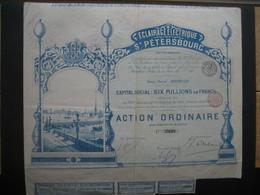 RUSSIE - Action De 1897 - ECLAIRAGE ELECTRIQUE DE ST-PETERSBOURG - Très Beau Décor - Russie