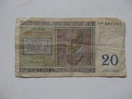 Billet De 20 Du Royaume De Belgique. - Belgio