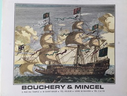 Reproduction Offset Navire Bouchery/Mincel 24x30 - Other Collections