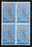 BARBADOS   Scott # 402** VF MINT NH BLOCK Of 4 - Barbados (1966-...)