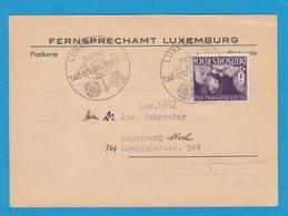 FERNSPRECHAMT LUXEMBURG,TAG DER BRIEFMARKE 1942. - 1940-1944 German Occupation