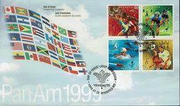 Kanada Canada 1999 - Sport - Panamerikanische Sportspiele, Winnipeg - MiNr 1782-1785 FDC - Briefmarken