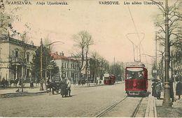 Warszawa Les Allées Ujazdovsky Tramway - Polonia