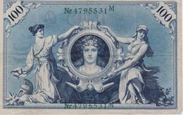 ALLEMAGNE 100 MARK NOTE 1908 - [ 2] 1871-1918 : German Empire