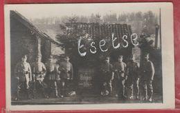 Falemprise ( Silenrieux) - Groupe De Soldats Allemands Devant La Gare -1er Bâtiment En Planche-Carte Photo (voir Verso ) - Cerfontaine