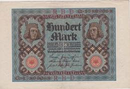 ALLEMAGNE 1920 REICHSBANKNOTE  100 MARK - 100 Mark