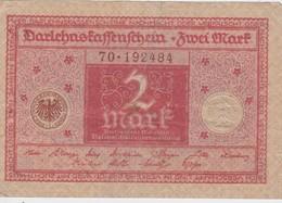 ALLEMAGNE 1920 DARLEHENKASSENSCHEIN 2 MARK - [ 3] 1918-1933 : República De Weimar