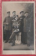 Cerfontaine - Groupe De Soldats Allemands Chez Le Photographe Béchet - Carte Photo - 5 - (voir Verso ) - Cerfontaine