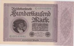 ALLEMAGNE 1923 REICHSBANKNOTE 100000 MARK - [ 3] 1918-1933 : Weimar Republic