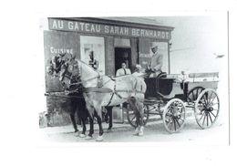 Cpm - 56 - BELLE ISLE En Mer - Le Palais - Boutique Au Gâteau Sarah Bernhardt Attelage Chevaux Cocher Cheval - Belle Ile En Mer