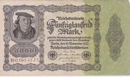 ALLEMAGNE 1922 REICHSBANKNOTE 50000 MARK - [ 3] 1918-1933 : Repubblica  Di Weimar