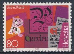 Switzerland Schweiz Suisse 1994 Mi 1522 ** Modern Electronic Fonts / Elektronische Textverabeitung - Buch Und Presse - Talen