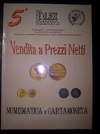 Catalogo Asta Alex 5° Vendita A Prezzi Netti Numismatica E Cartamoneta 30/06/2003 - Libri & Software