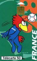 Télécarte 50 : Footix La Tête (coupe Du Monde De Football 1998) - Sport