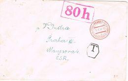 28149. Carta PRAHA (Checoslovaquia) 1945. Taxe,. Tasa 80 H - Briefe U. Dokumente