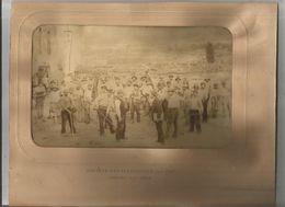 LONGWY (MEURTHE ET MOSELLE) PHOTO OUVRIERS DE LA SOCIETE METALLURGIQUE DE L'EST AU TRAVAIL 1893 (J DAVID PHOT) - Lieux