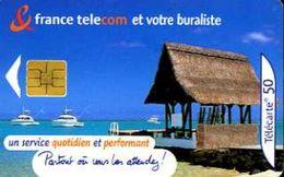 Télécarte 50 : France Telecom Et Votre Buraliste (2001) - Opérateurs Télécom