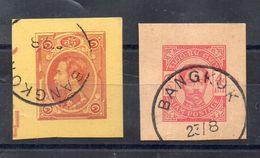 SIAM -  ENTIER POSTAL - Timbres Decoupes D'enveloppes  1890 - Siam