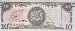 BILLETE DE TRINIDAD Y TOBAGO DE 10 DOLLARS DEL AÑO 2006 (BANKNOTE) BIRD-PAJARO - Trinidad Y Tobago