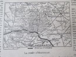 Semaine Militaire 11 Au 18 Octobre 1917 La Foret De  HOUTHULST  Langemarck  + Carte Du Front 17 Octobre 1914 - Non Classés