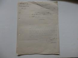 Lettre De L'Administrateur De La Commune De Lomé En Territoire Du Togo. - Invoices & Commercial Documents