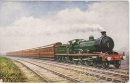 Edwardian Railway Postcard G&SWR Corridor Express Raphael Tuck Manson 4-6-0 Loco - Trains