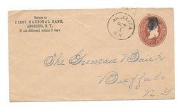 US GA USA Two Cents First National BAnk Angelica To Buffalo 1886 - 1847-99 Unionsausgaben