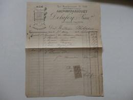Facture De La Patisserie-traiteur Delafoy Rue De Bourgogne à Orléans (Loiret). - Invoices & Commercial Documents