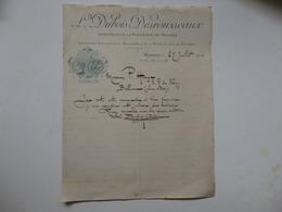 Lettre De L'inventeur De La Persienne L. Dubois Desrousseaux 128, Rue Blanchemaille à Roubaix (59). - Invoices & Commercial Documents