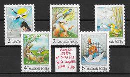 Enfant Conte Fable Légende Esope La Fontaine Andersen - Hongrie N°3141 à 3145 1987 ** - Fairy Tales, Popular Stories & Legends