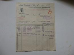 Facture De La Société Des Pâtes Alimentaires De France à Lyon (69). - Invoices & Commercial Documents