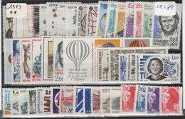 FR-C83- FRANCE Année Complète Neuve** 1er Choix 1983 Faciale 18,88 € - France
