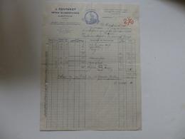 """Facture Des Pâtes Alimentaires """"Le Chamois"""" à Albertville (73). - Invoices & Commercial Documents"""