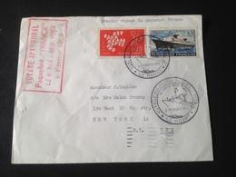 """Enveloppe """"Voyage Inaugural Du Paquebot France"""" 3 Février 1962 - Andere"""