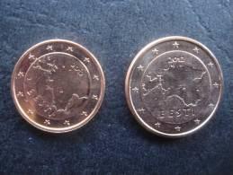 Estonia, 1 AND 2  Euro CENT  2012   UNC - Estonia