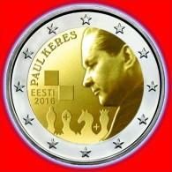 Estonia ESTLAND 2 EURO Gedenkmünze Schachmeister , Schach Coin Munze 2016 UNC - Estonia