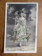 Miss Arlington - Jolie Femme Artiste Au Moulin Rouge - Waléry - Ajoutis / Paillettes - Newport