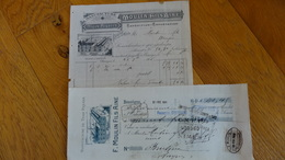 Besseges Gard F Moulin Fils Aine Tiges Piquees 1909 - Textile & Vestimentaire