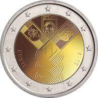 Estonia / Estland 2018 2 EURO 100 Jahrestag Der Baltischen Staaten COIN FROM MINT ROLL UNC  BALTIA  100 YEAR - Estonia