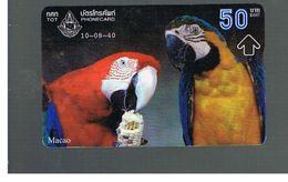 TAILANDIA (THAILAND) -  1997  BIRDS; PARROTS, MACAO  - USED  -  RIF. 10386 - Pappagalli