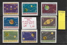 Espace Planète Système Solaire Mars Saturne Vénus - Albanie N°729 à 737 (sauf 733) 1964 * - Space