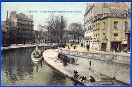 1 CPA COULEUR NON ÉCRITE N° 25 NANTES L'ERDRE QUAIS DUQUESNE ET DES TANEURS 44 LOIRE ATLANTIQUE - NOTRE SITE Serbon63. - Nantes