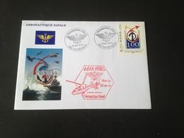 Timbres + Enveloppe + Carte 100 Ans De Aeronautique Navale Base De Hyeres - Luchtpost