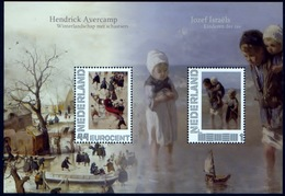 Nederland 2010, Netherlands, Niederlande, Pays-Bas, Bloc, Painter, Hendrick Avercamp & Jozef Israels, MNH - Blokken